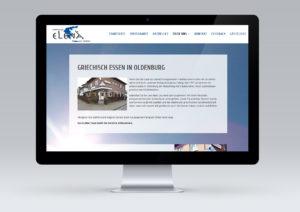 Restaurant ELENA Oldenburg Website Webdesign von snap new media - Anke Klusmeyer