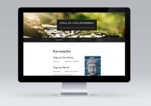 Website für Yoga in Collinghorst von snap new media - Anke Klusmeyer