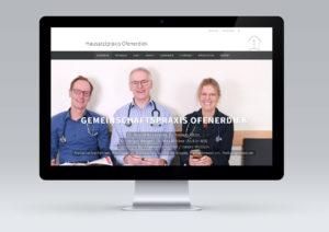 Website für Hausarztpraxis Ofenerdiek von snap new media - Anke Klusmeyer